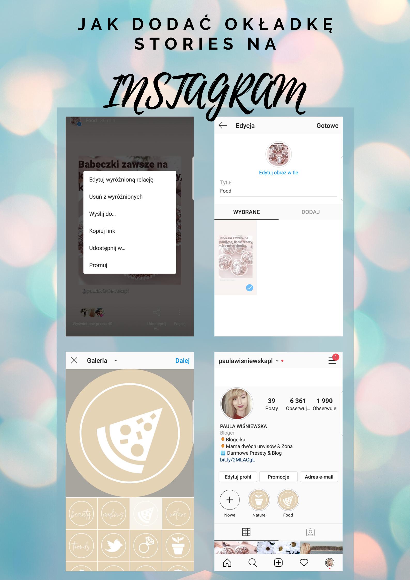 Jak dodać okładkę Instagram Stories?
